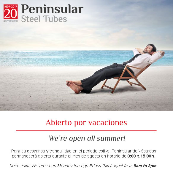 Abiertos por vacaciones. We're open